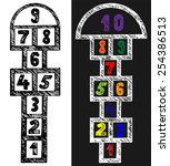 hopscotch. doodle style | Shutterstock .eps vector #254386513