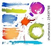 grungy design elements | Shutterstock .eps vector #25439788
