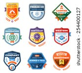 set of clean modern logo badges ... | Shutterstock .eps vector #254400127