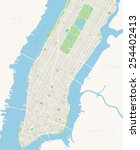 new york map   lower and mid... | Shutterstock .eps vector #254402413