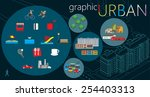 urban graphic set | Shutterstock .eps vector #254403313