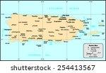 puerto rico map | Shutterstock .eps vector #254413567