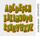 creative high detail font. the