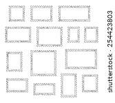 grunge empty blank postage... | Shutterstock .eps vector #254423803
