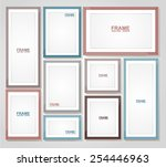 picture frame vector. photo art ... | Shutterstock .eps vector #254446963