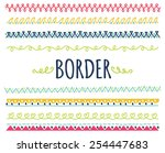 set of decorative hand drawn... | Shutterstock .eps vector #254447683