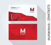 M Letter Logo Abstract Polygonal Background Business card template | Shutterstock vector #254478373