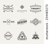 retro vintage insignias or... | Shutterstock .eps vector #254485273