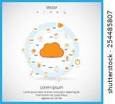 cloud computing technology... | Shutterstock .eps vector #254485807