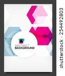 abstract modern flyer  ...   Shutterstock .eps vector #254492803