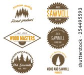 set of logo  labels  badges and ... | Shutterstock .eps vector #254495593