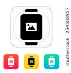 photo on smart watch icon....