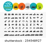 74 transportation icons extreme ... | Shutterstock .eps vector #254548927