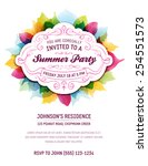 Summer Party Invitation With...