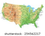 high detailed united states of... | Shutterstock .eps vector #254562217