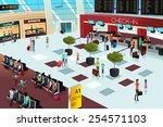 a vector illustration of inside ... | Shutterstock .eps vector #254571103
