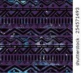 hand drawn black aztec tribal... | Shutterstock .eps vector #254571493