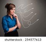 attractive young teenager... | Shutterstock . vector #254577613