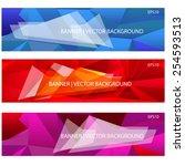 geometrical triangular... | Shutterstock .eps vector #254593513