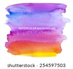 abstract watercolor rainbow...