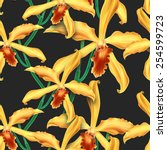 seamless floral background with ... | Shutterstock . vector #254599723