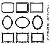 frame icons | Shutterstock .eps vector #254609473