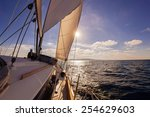 sailing boat wide angle view in ... | Shutterstock . vector #254629603