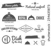 set of logo  badge  emblem and... | Shutterstock .eps vector #254635873