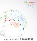 global network | Shutterstock .eps vector #254643157