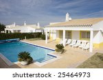 beautiful villa with pool  ... | Shutterstock . vector #25464973