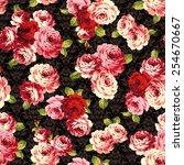 pattern of rose  | Shutterstock .eps vector #254670667