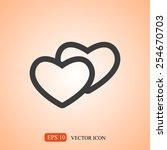 heart icon | Shutterstock .eps vector #254670703