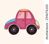 transportation car theme... | Shutterstock .eps vector #254676103