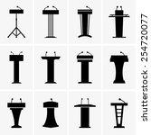 podium tribunes | Shutterstock .eps vector #254720077