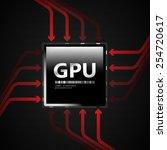 gpu   eps10 vector | Shutterstock .eps vector #254720617