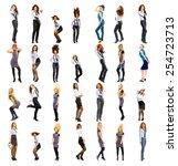 workforce diversity teamwork...   Shutterstock . vector #254723713
