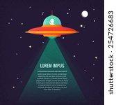 ufo. alien. | Shutterstock .eps vector #254726683