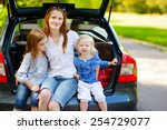 two adorable little sisters and ... | Shutterstock . vector #254729077