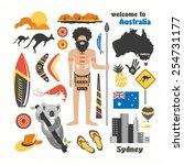 travel australia | Shutterstock .eps vector #254731177