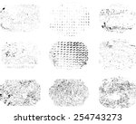 set of grunge rubber texture... | Shutterstock .eps vector #254743273