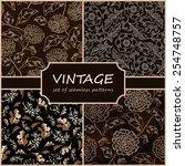seamless vintage floral... | Shutterstock .eps vector #254748757