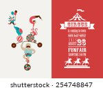 vintage poster with carnival ... | Shutterstock .eps vector #254748847