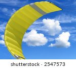 Yellow Kite With Three Clouds