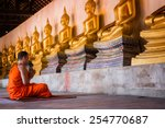 Monks At Putthaisawan Temple I...