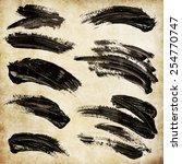 strokes of black paint | Shutterstock . vector #254770747