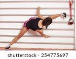 pretty woman doing exercises