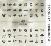 set of ecology icons | Shutterstock .eps vector #254787283