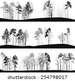 set of different landscapes... | Shutterstock .eps vector #254798017
