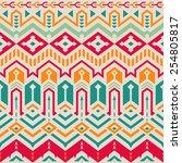 seamless vector tribal pattern. ... | Shutterstock .eps vector #254805817