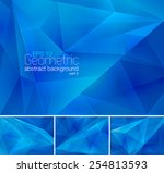 geometric abstract background | Shutterstock .eps vector #254813593